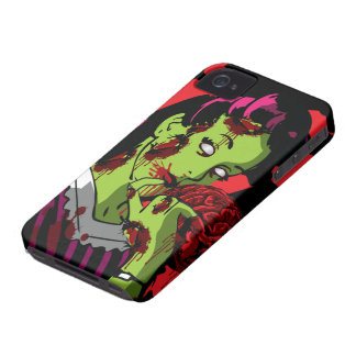 Chica del zombi del caso del iPhone 4 del zombi