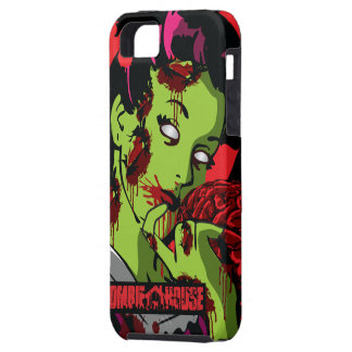 Chica del zombi del caso del iPhone 5 del zombi Funda Para iPhone 5 Tough
