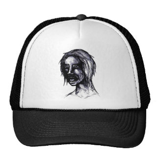 Chica del zombi gorras de camionero