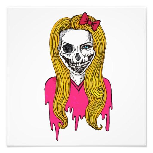 Chica del zombi arte fotográfico