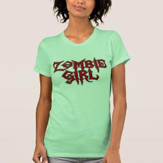 Chica del zombi camisetas