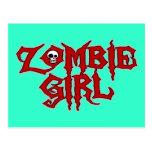 Chica del zombi tarjeta postal