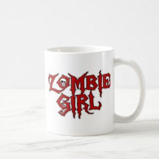 Chica del zombi taza