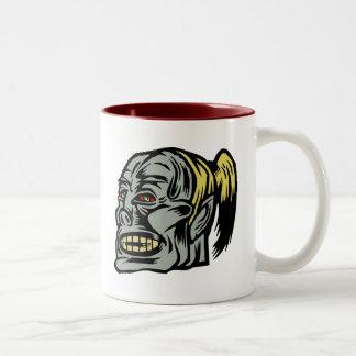 chica del zombi taza dos tonos