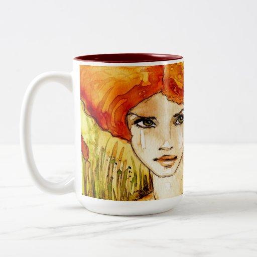 chica delicado taza de café
