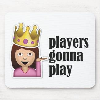 Chica descarado Emoji - jugadores que van a jugar Alfombrillas De Ratones