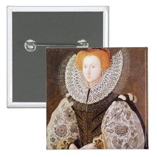 Chica desconocido, envejecido 20, 1587 pin cuadrada 5 cm