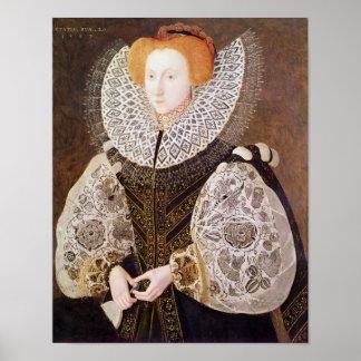 Chica desconocido, envejecido 20, 1587 póster