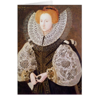 Chica desconocido, envejecido 20, 1587 tarjeta de felicitación