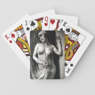 Chica desnudo Pin-Para arriba de los Erotica del Barajas De Cartas