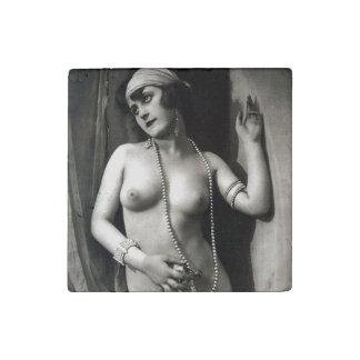 Chica desnudo Pin-Para arriba de los Erotica del Imán De Piedra