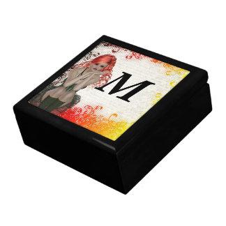 Chica dirigido rojo del gótico caja de regalo