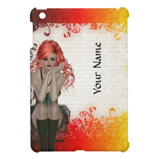 Chica dirigido rojo del gótico iPad mini carcasa