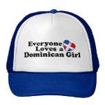 Chica dominicano gorros bordados