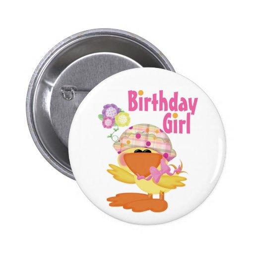 Chica Ducky del cumpleaños de Cutie Pin Redondo 5 Cm
