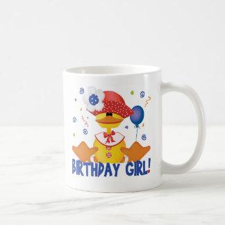 Chica Ducky del cumpleaños del fiesta Tazas