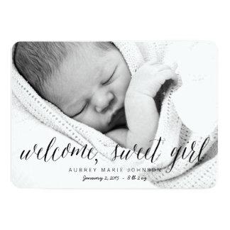 Chica dulce agradable - invitación del nacimiento