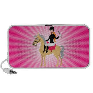 Chica ecuestre rosado altavoces
