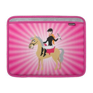 Chica ecuestre rosado funda para macbook air
