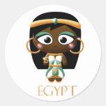Chica egipcio antiguo pegatina