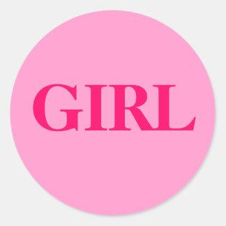 Chica - el género del bebé revela al pegatina del