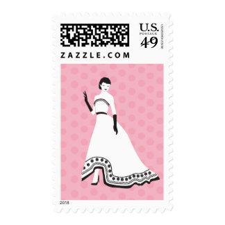 Chica elegante clásico sello