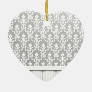 chica elegante elegante de la antigüedad de madera adorno de cerámica en forma de corazón