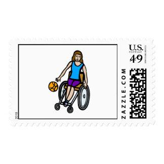 chica en baloncesto de silla de ruedas envio