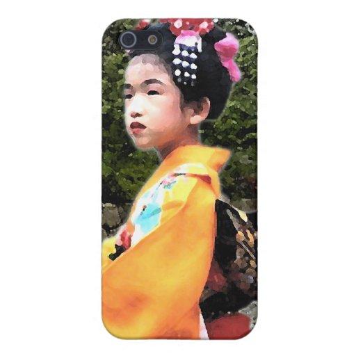Chica en caso del iPhone del kimono iPhone 5 Carcasa