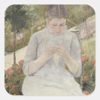 Chica en el jardín de Mary Cassatt