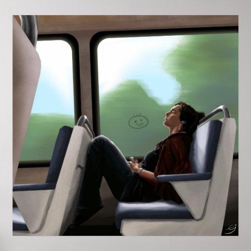 Chica en el metro posters