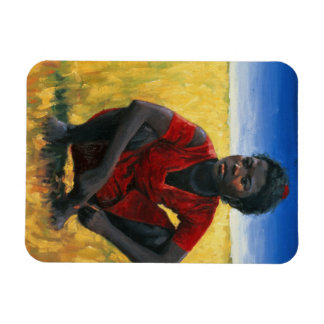 Chica en el rojo 1992 rectangle magnet