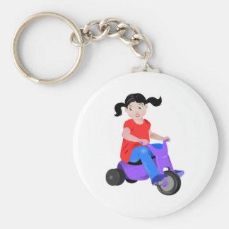 Chica en el triciclo llavero personalizado