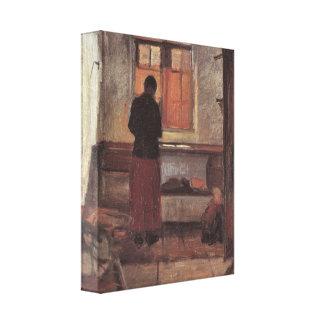 Chica en la cocina, Ancher, impresionismo del Impresión En Lona
