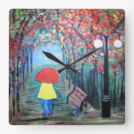 Chica en la lluvia