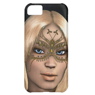 Chica en la máscara de oro de la mariposa