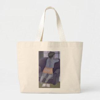 Chica en la silla 2002 bolsa tela grande