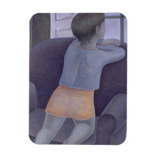 Chica en la silla 2002 iman rectangular