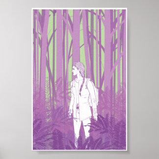 Chica en las maderas 4x6 impresiones