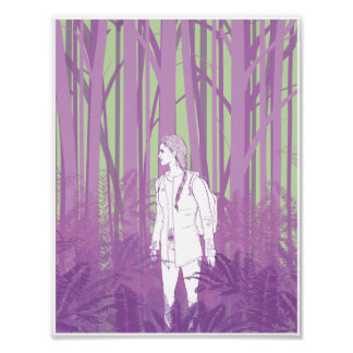 Chica en las maderas 8.5x11 impresiones