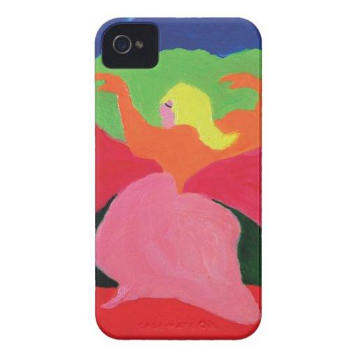 Chica en montañas de ZermenoGallery.com Case-Mate iPhone 4 Carcasas
