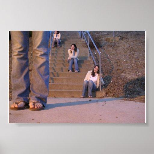 Chica en pasos poster