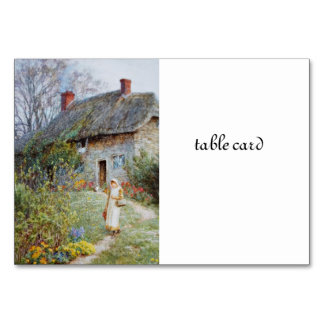 Chica en un camino de la cabaña