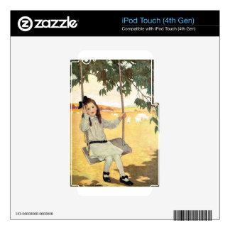 Chica en un oscilación calcomanías para iPod touch 4G