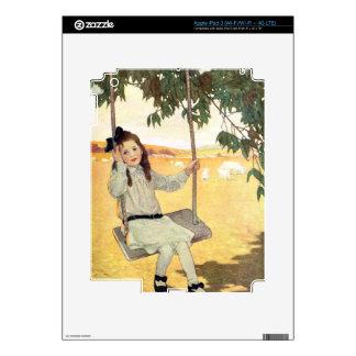 Chica en un oscilación iPad 3 skins