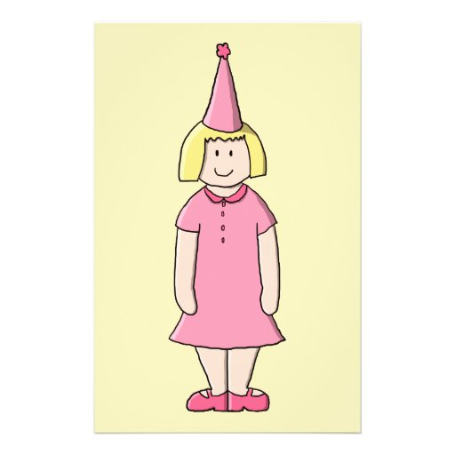 """Chica en una fiesta de cumpleaños folleto 5.5"""" x 8.5"""""""