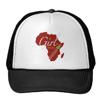 Chica en una misión - África Gorras De Camionero