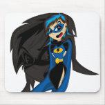 Chica enmascarado Mousepad del super héroe Alfombrilla De Ratones