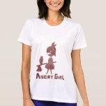 Chica enojado camiseta