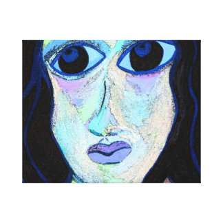 Chica enrrollado impresiones en lienzo estiradas